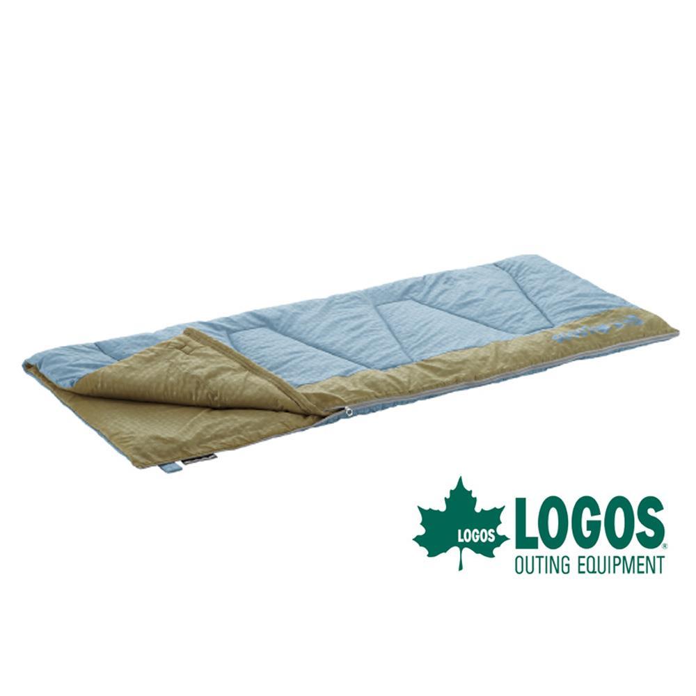 LOGOS丸洗纖維睡袋6℃~ 淺藍80^~190cm約1.45kg 戶外 ^|登山 ^|露