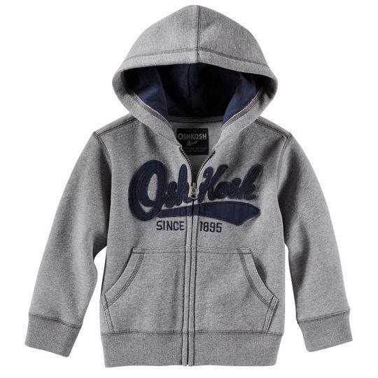 美國 OSHKOSH 男 男嬰兒男寶寶連帽長袖薄外套~VC_423G077健康~CA030
