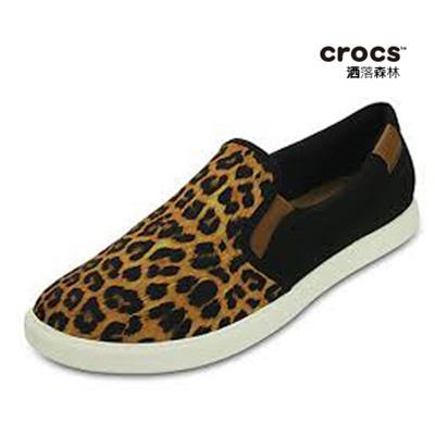 ~Crocs~女士都會街頭便鞋 CitiLane Slip~on Sneaker~ 豹紋