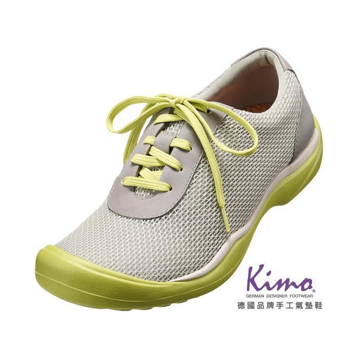 牛皮網布輕量休閒鞋 活力綠K15WF073062 .真皮.牛皮.休閒鞋.足弓墊.彈力.網布