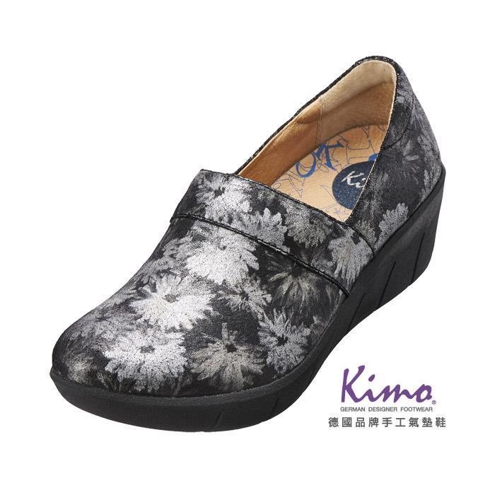 真皮花紋厚底鞋  灰K15WF077012 .真皮.牛皮.增高.舒適~Kimo德國品牌 氣
