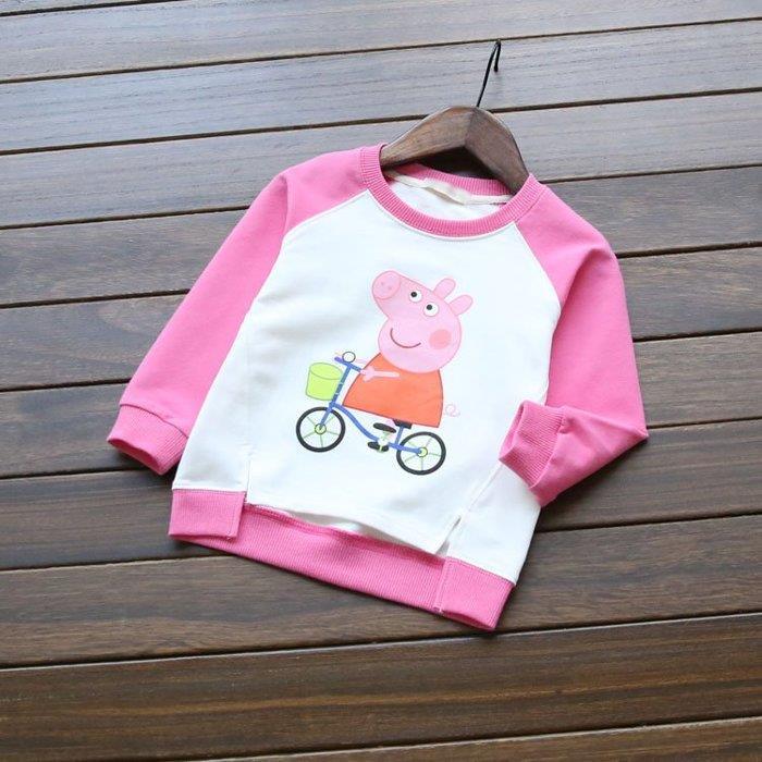 2016秋 外貿女童卡通純棉長袖衛衣兒童寶寶套頭衫打底衫t恤