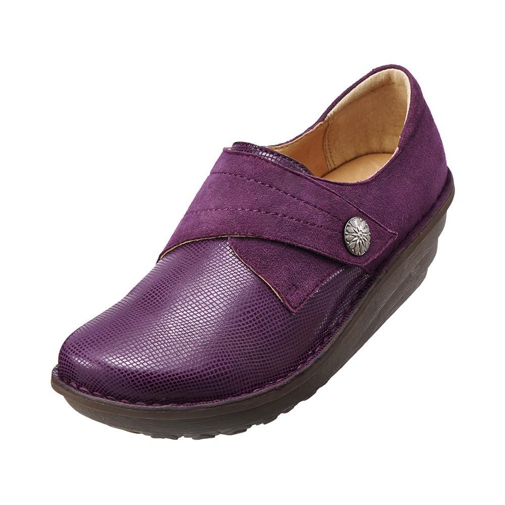 魅力蛇紋手縫厚底鞋 魅力紫K15WF011599 牛皮.增高.舒適‧手縫~Kimo德國品牌