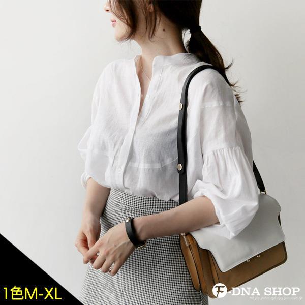 F~DNA~小立領百搭棉麻襯衫^(M~XL^)~ESR1731~