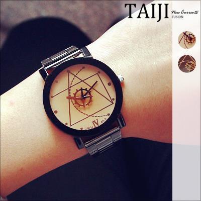 潮流手錶‧情侶款幾何齒輪指針潮流手錶‧四色~NXD047~~TAIJI~