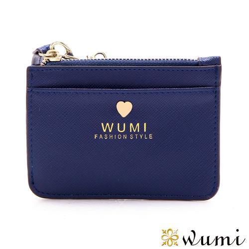 WuMi 無米 潔妮十字紋悠遊票卡夾 海軍藍