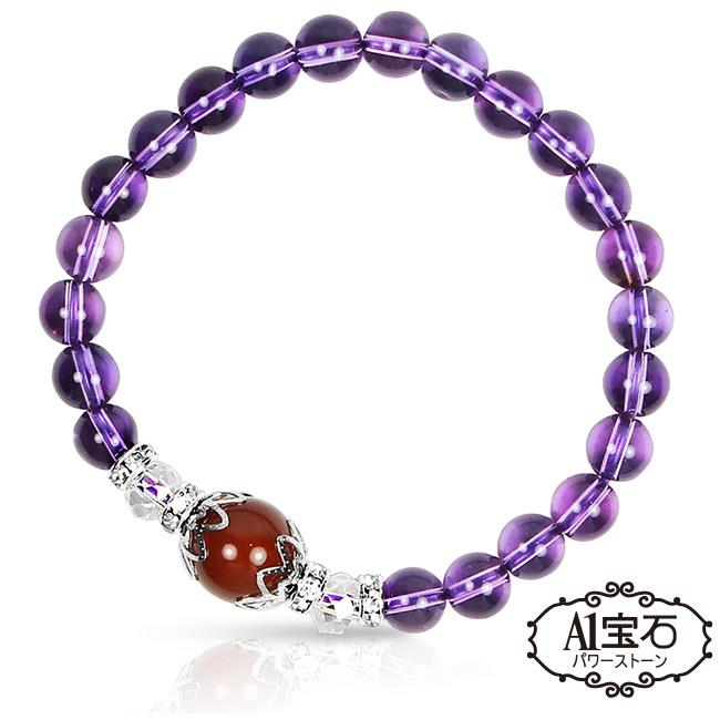~ 下殺  ~手環 手鍊 十二星座飾品 幸運石 晶鑽紫水晶白水晶紅瑪瑙 含開光 A1寶石~
