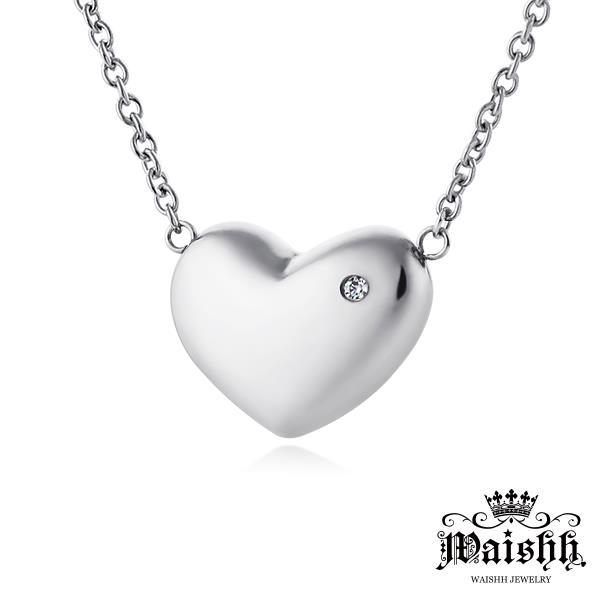 Waishh玩飾不恭【寶貝甜心-鋼色】心型 珠寶白鋼項鍊【女款】GLS013A