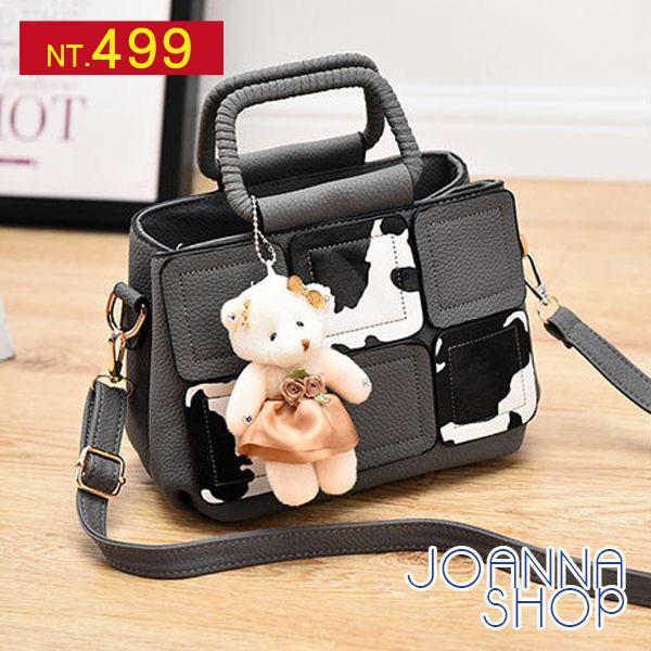 紐西蘭牧場熊熊拼接手提包~Joanna Shop