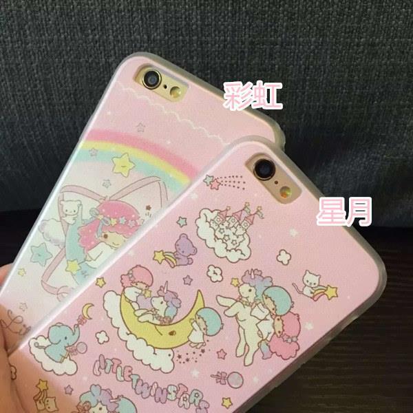 iPhone i5SE i6 i7 s plus 雙子星 KIKILALA 粉系 殼 手機