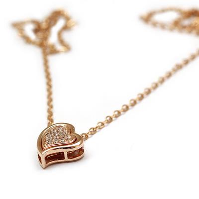 【伊麗珠寶 Elite Jewellery】925純銀項鍊 - 包藏真心 玫瑰金