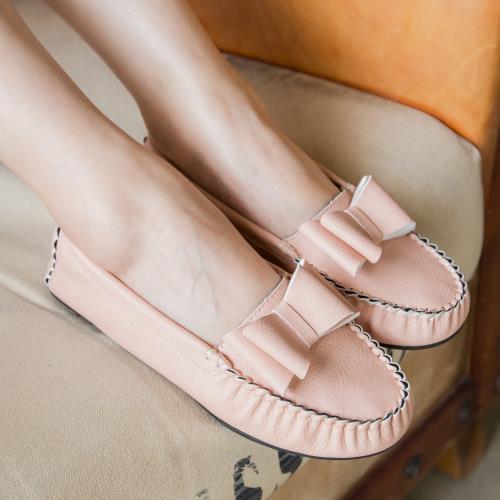 懶人鞋.氣質蝴蝶結百搭平底包鞋.白鳥麗子