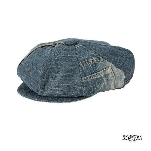 New York Hats Recycled Denim Newsboy 再製單寧八片式報