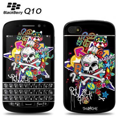BlackBerry Q10 美國 DecalGirl 貼紙 骷顱頭塗鴉