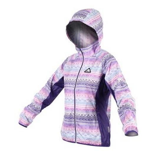 KAPPA 女款 女輕量風衣外套 防風 連帽 格紋 紫 粉紅 FC52~C827~9 ^(