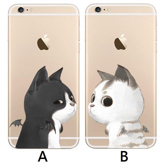 K M黑白貓咪情侶系列~IPHONE~4 4S 5 5S 6 6S 6PLUS 6SPLU