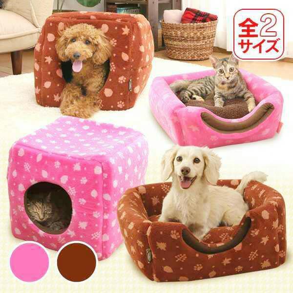 W~Mall.日系IRIS寵物方型窩~棕~M 233002