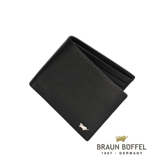 BRAUN BUFFEL 德國小金牛 HOMME~B系列5卡皮夾 黑 BF192~B316