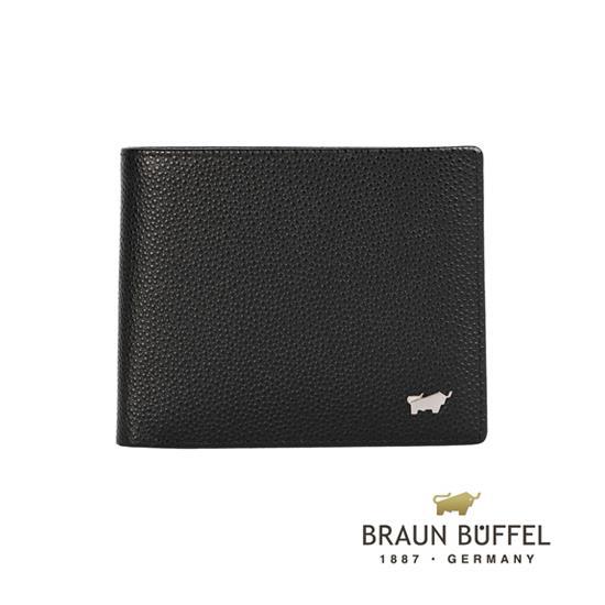BRAUN BUFFEL 德國小金牛 HOMME~B系列4卡零錢袋皮夾 黑 BF192~B