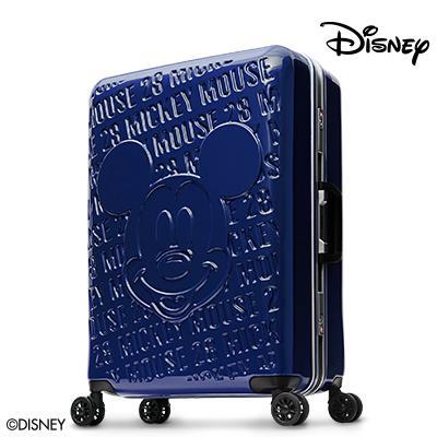 良品【Disney】1928復刻浮雕28吋PC鏡面深鋁框行李箱-深藍