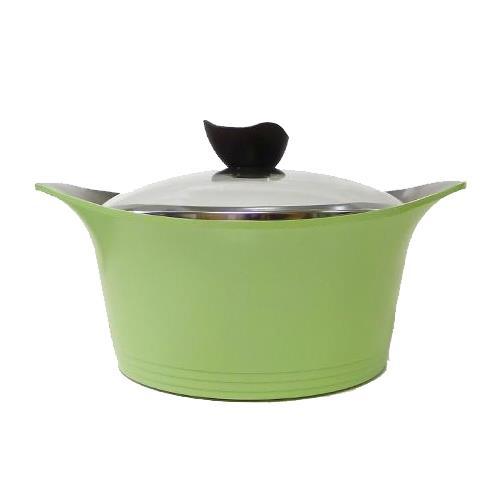 ^( 36折再送天然竹製鍋鏟^)NEOFLAM 韓國 Aeni系列陶瓷不沾雙耳湯鍋18cm