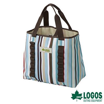 ~LOGOS~花線條裝備袋~藍 M 50X21cm #LG73189014