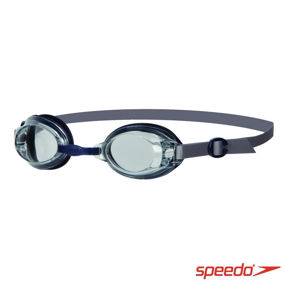 ~ 6折↘Speedo 成人 基礎型泳鏡 Jet 深藍 透明
