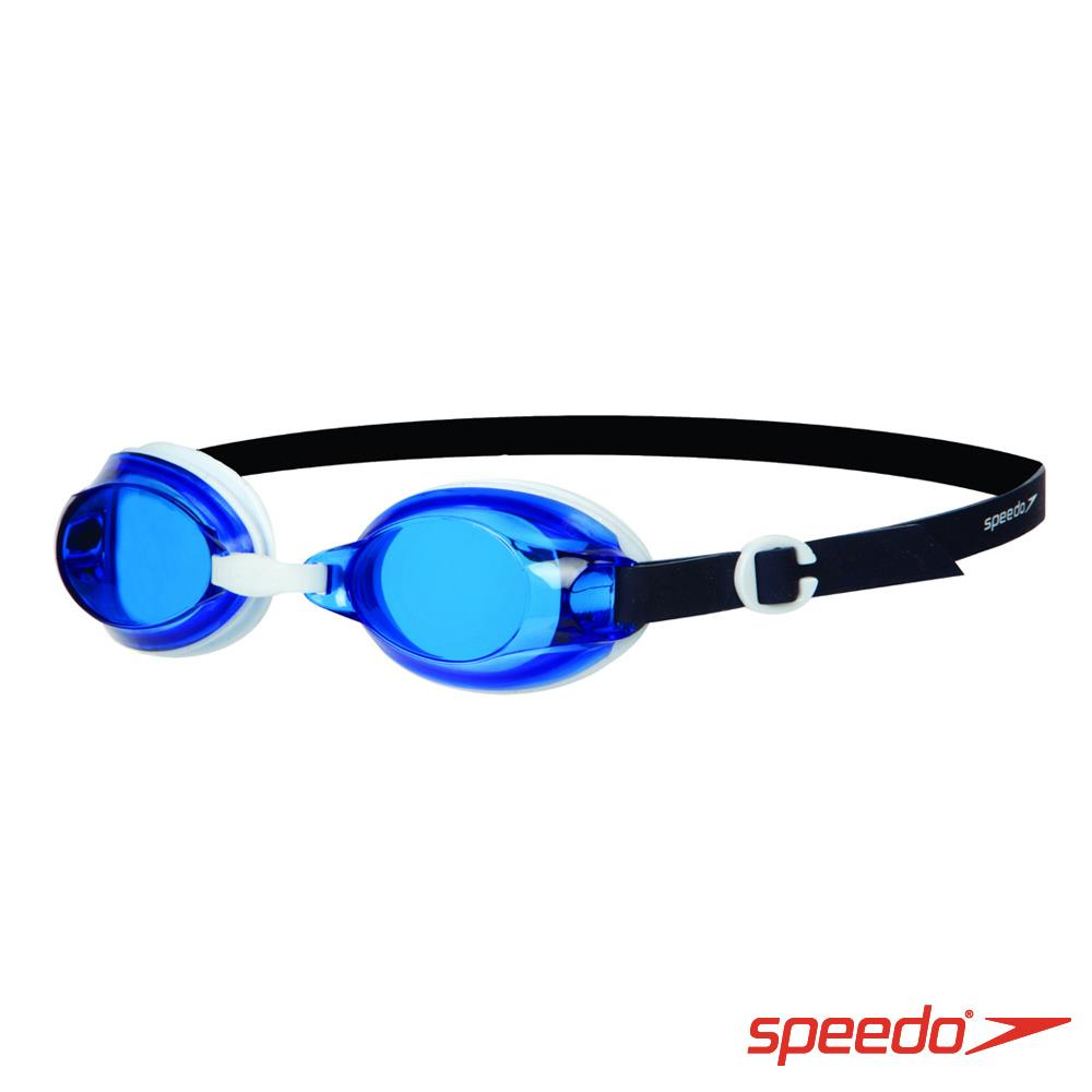 ~ 6折↘ Speedo 成人 基礎型泳鏡 Jet 藍 白