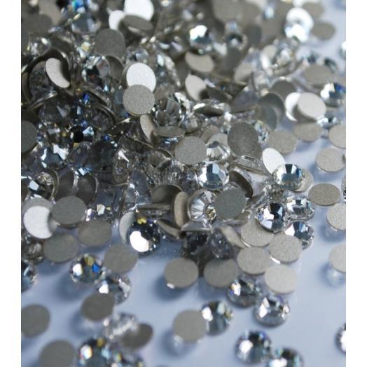 施華洛世奇2028 2058平底鑽小包裝~SS12透明白 001  72顆裝