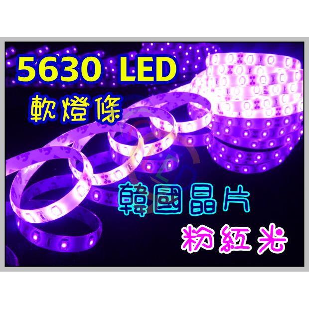 A649~~亮度超越5050 韓國5630晶片 粉紅光燈條~ 微笑燈 粉紅 冰藍 招牌燈
