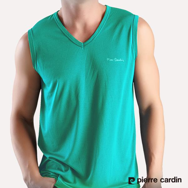 ~Pierre Cardin~木醣醇涼感無袖衫 ^(灰綠^) PS727~0564
