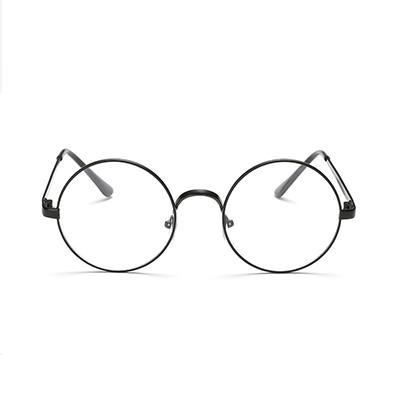 大框復古圓形眼鏡~黑~AG03~