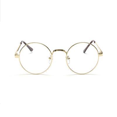 大框復古圓形眼鏡~金~AG04~