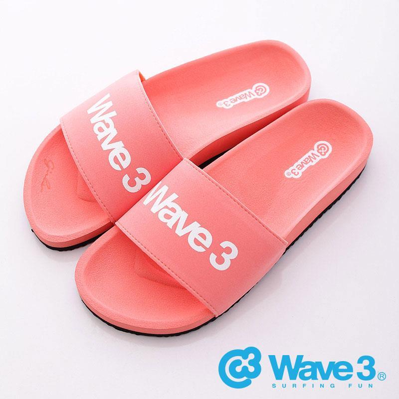 WAVE3【女】女印刷LOGO 休閒拖-粉紅16205205