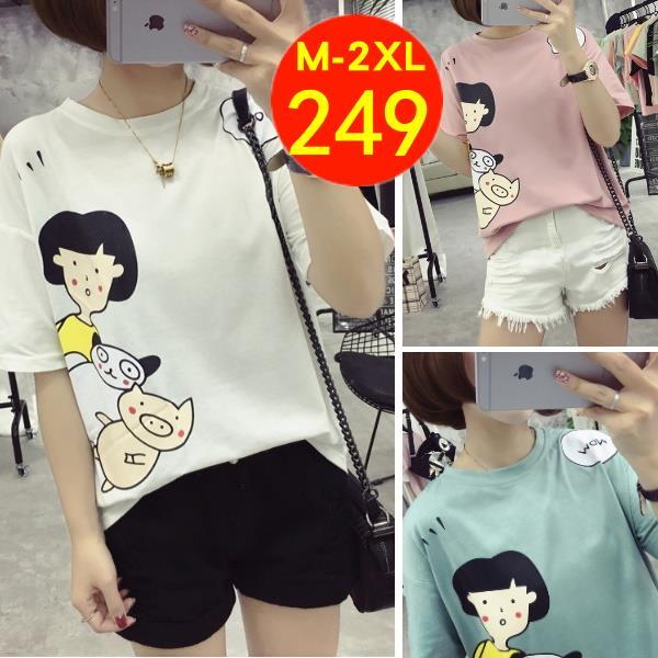M~2XL卡通風WOW人物短袖T恤~凱西娃娃