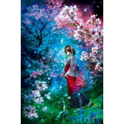 ~拼圖總動員 PUZZLE STORY~櫻花樹下的少女 作者:溝口周一   拼圖 Appl