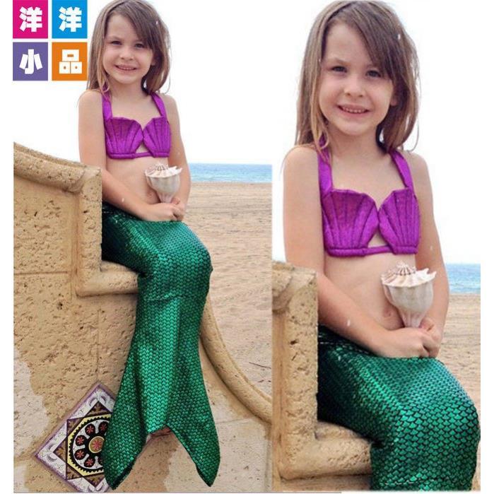 ~洋洋派對樂兒童 服裝小美人魚服裝泳裝派對禮服長裙~桃園平鎮萬聖節聖誕節表演服裝兒童 服舞