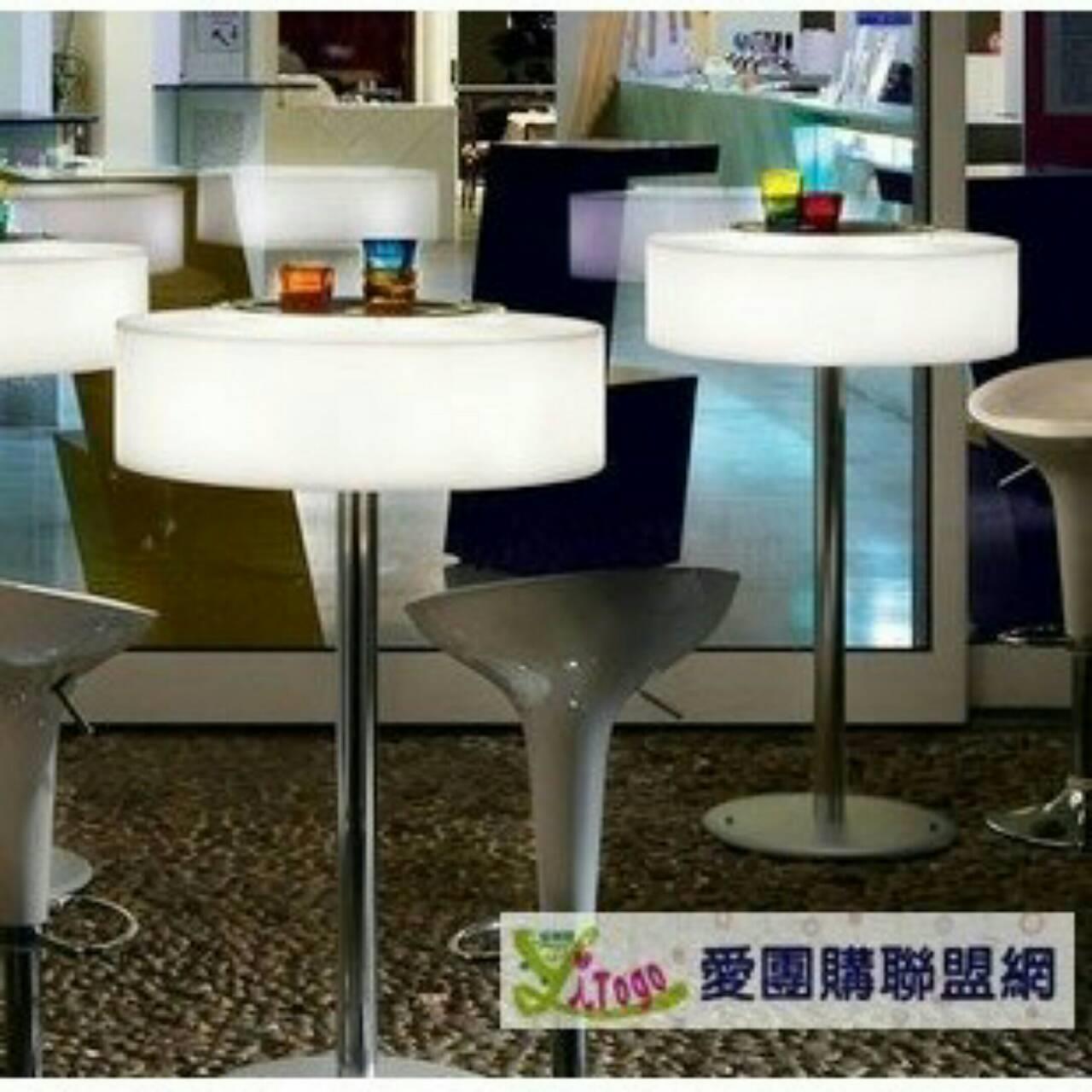 ^~愛 iTogo^~ LED 發光吧台桌發光雞尾酒桌發光 夜店酒吧室內外擺飾 家飾