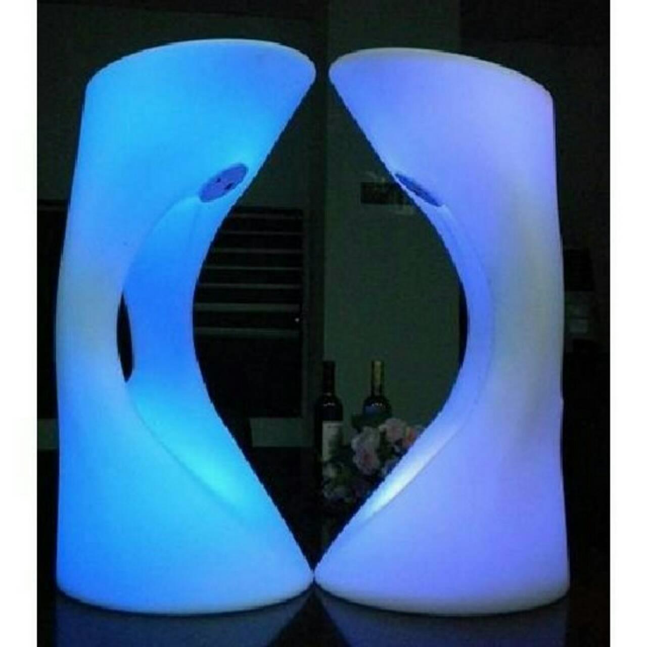^~愛 iTogo^~ LED炫彩發光吧檯椅 空心腳蹬發光 夜店酒吧室內外擺飾| 家飾 另
