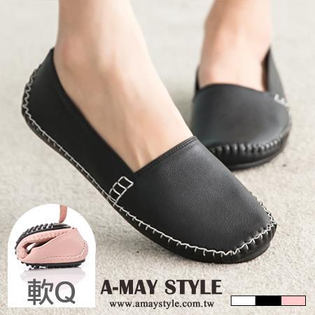艾美 ~樂福鞋~MIT質樸輕甜軟Q平底豆豆鞋~XP516~P4~2