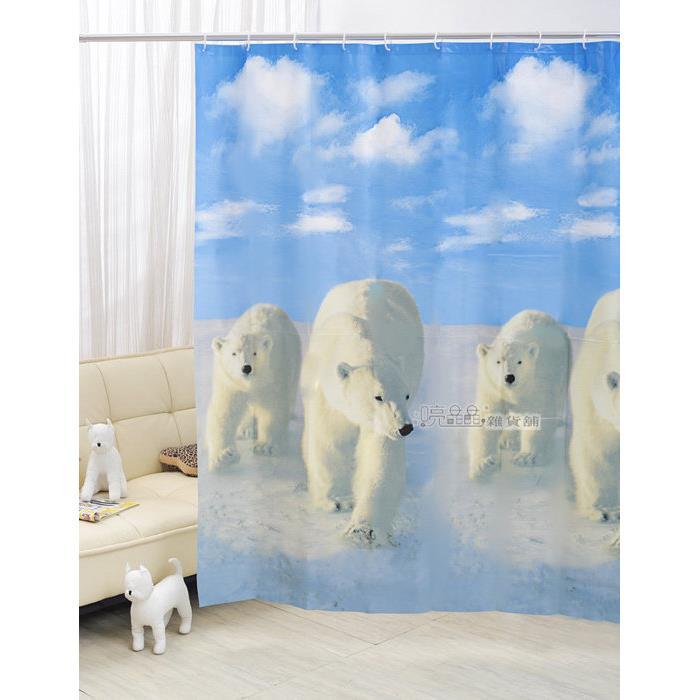 ~喨晶晶雜貨舖~台製 PEVA 透明防水浴簾˙隔間簾、乾溼分離↘ 120元、E1034 1
