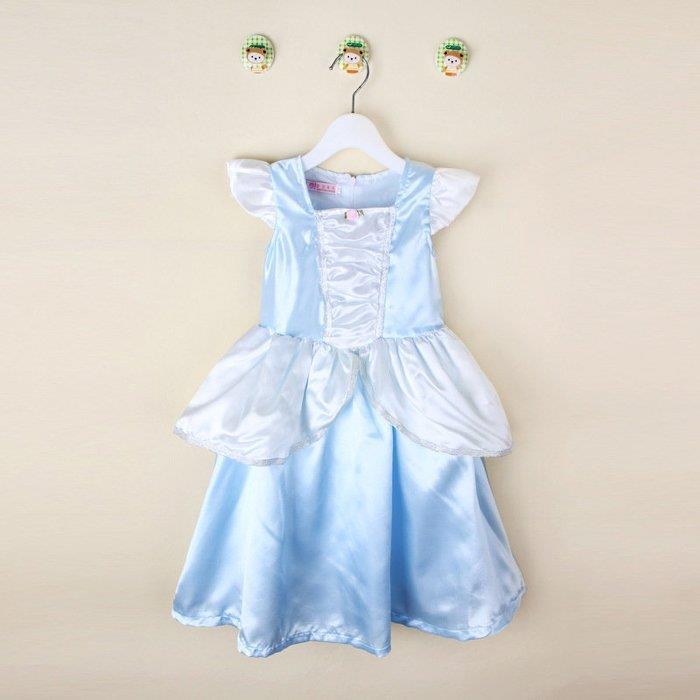 ~洋洋派對樂~兒童灰姑娘服洋裝禮服~兒童 白雪公主服藍萬聖節服裝聖誕節舞會派對服裝表演灰姑