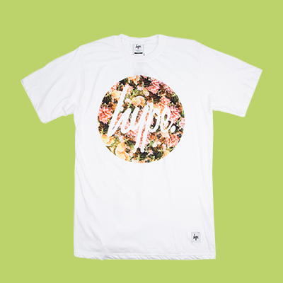 HYPE BOUQUET CIRCLE T~SHIRT 花樣圓形LOGO 上衣 白