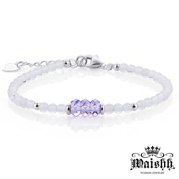 Waishh玩飾不恭~紫色夢幻~925純銀瑪瑙玉髓串珠手鍊 FL026
