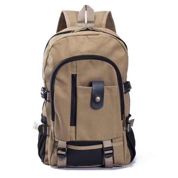 後背包~ 販售~ 升級版加厚帆布後背包 mm9518~寶來小舖