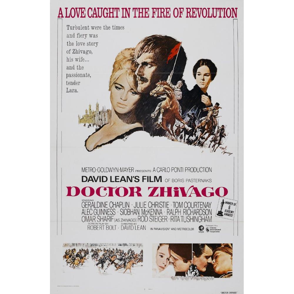 齊瓦哥醫生-Doctor Zhivago(1965)(單面摺式) 電影海報