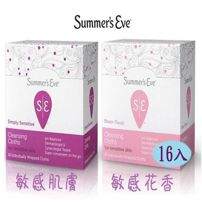 SUMMER'S EVE 私密防護舒巾 ~ 敏感淡花香型  16入 ~巴布 ~