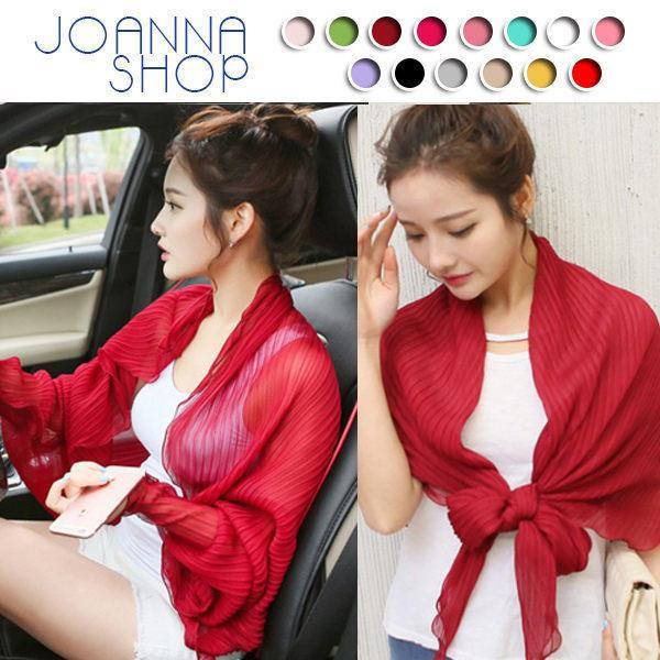 披肩 豔陽對策夏日百變防曬披肩~Joanna Shop
