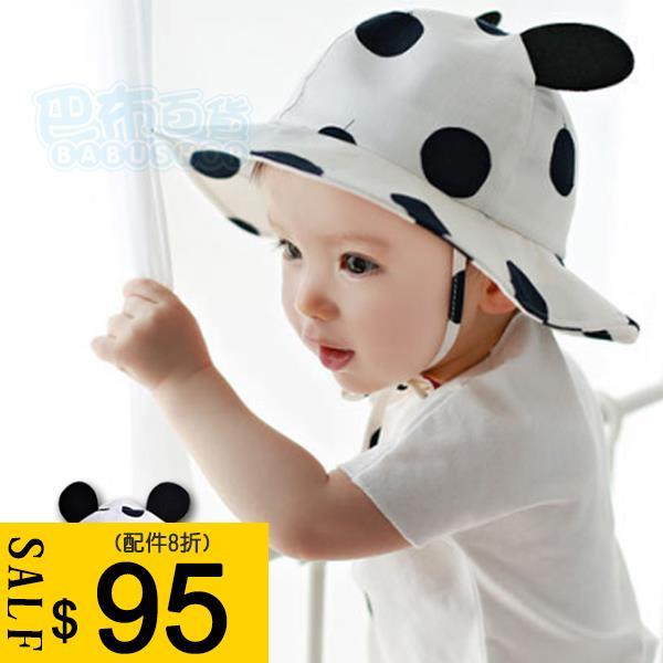 兒童 圓點漁夫帽 遮陽帽~巴布 ~