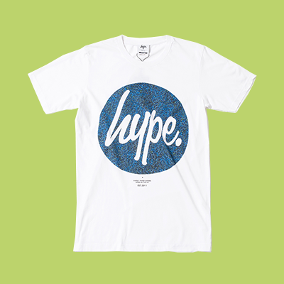 HYPE BLUELINE CIRCLE T~SHIRT 藍色星空 圓形LOGO 短T 白